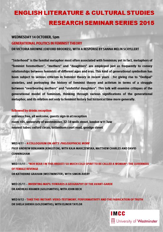EL&CS Research Seminars 2015 Poster